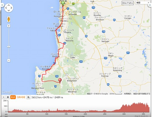 DAY1:Perth to Nannup 366km