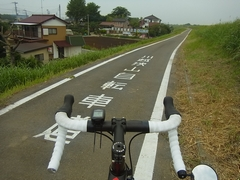 今日の川越狭山自転車道は暑かった