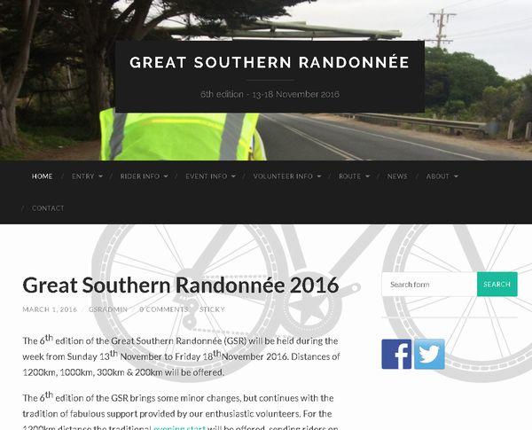 GSR(Great Southern Randonnée)
